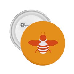 Littlebutterfly Illustrations Bee Wasp Animals Orange Honny 2.25  Buttons