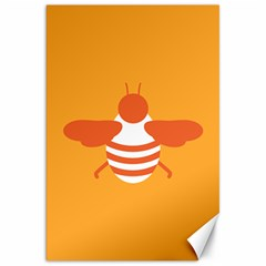 Littlebutterfly Illustrations Bee Wasp Animals Orange Honny Canvas 20  x 30