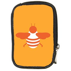 Littlebutterfly Illustrations Bee Wasp Animals Orange Honny Compact Camera Cases