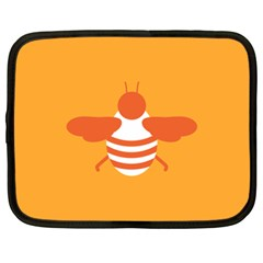 Littlebutterfly Illustrations Bee Wasp Animals Orange Honny Netbook Case (XL)