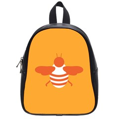Littlebutterfly Illustrations Bee Wasp Animals Orange Honny School Bags (small)