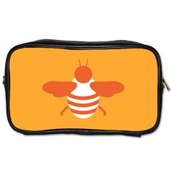 Littlebutterfly Illustrations Bee Wasp Animals Orange Honny Toiletries Bags