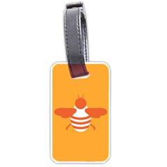 Littlebutterfly Illustrations Bee Wasp Animals Orange Honny Luggage Tags (Two Sides)