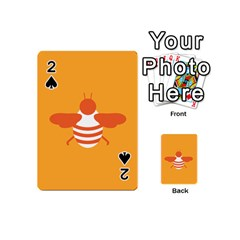 Littlebutterfly Illustrations Bee Wasp Animals Orange Honny Playing Cards 54 (Mini)