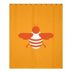 Littlebutterfly Illustrations Bee Wasp Animals Orange Honny Shower Curtain 60  x 72  (Medium)