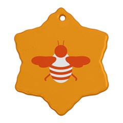 Littlebutterfly Illustrations Bee Wasp Animals Orange Honny Snowflake Ornament (Two Sides)