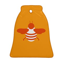 Littlebutterfly Illustrations Bee Wasp Animals Orange Honny Bell Ornament (Two Sides)