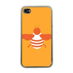 Littlebutterfly Illustrations Bee Wasp Animals Orange Honny Apple iPhone 4 Case (Clear)