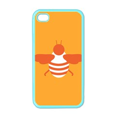 Littlebutterfly Illustrations Bee Wasp Animals Orange Honny Apple iPhone 4 Case (Color)