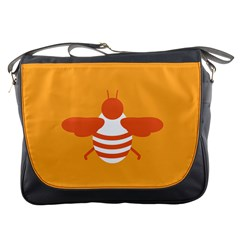 Littlebutterfly Illustrations Bee Wasp Animals Orange Honny Messenger Bags