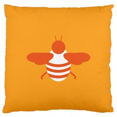 Littlebutterfly Illustrations Bee Wasp Animals Orange Honny Large Cushion Case (two Sides)