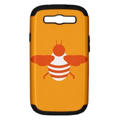 Littlebutterfly Illustrations Bee Wasp Animals Orange Honny Samsung Galaxy S III Hardshell Case (PC+Silicone)