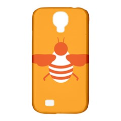 Littlebutterfly Illustrations Bee Wasp Animals Orange Honny Samsung Galaxy S4 Classic Hardshell Case (PC+Silicone)