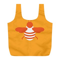Littlebutterfly Illustrations Bee Wasp Animals Orange Honny Full Print Recycle Bags (L)