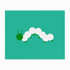 Little Butterfly Illustrations Caterpillar Green White Animals Small Glasses Cloth (2-Side)