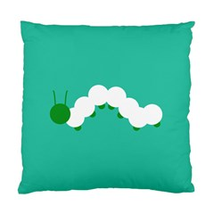 Little Butterfly Illustrations Caterpillar Green White Animals Standard Cushion Case (One Side)