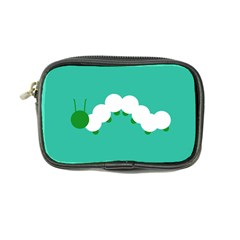 Little Butterfly Illustrations Caterpillar Green White Animals Coin Purse