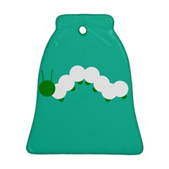 Little Butterfly Illustrations Caterpillar Green White Animals Bell Ornament (Two Sides)