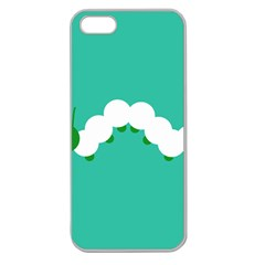 Little Butterfly Illustrations Caterpillar Green White Animals Apple Seamless iPhone 5 Case (Clear)