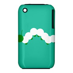 Little Butterfly Illustrations Caterpillar Green White Animals iPhone 3S/3GS