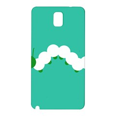 Little Butterfly Illustrations Caterpillar Green White Animals Samsung Galaxy Note 3 N9005 Hardshell Back Case
