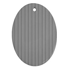 Metal Dark Grey Ornament (oval)