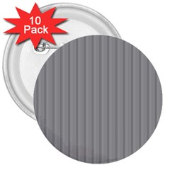 Metal Dark Grey 3  Buttons (10 pack)