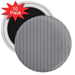 Metal Dark Grey 3  Magnets (10 pack)