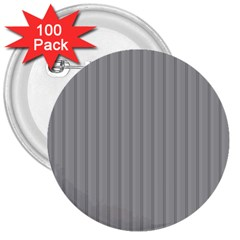 Metal Dark Grey 3  Buttons (100 pack)