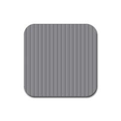 Metal Dark Grey Rubber Coaster (Square)