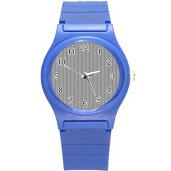Metal Dark Grey Round Plastic Sport Watch (S)