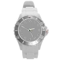 Metal Dark Grey Round Plastic Sport Watch (L)