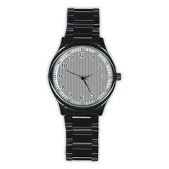 Metal Dark Grey Stainless Steel Round Watch