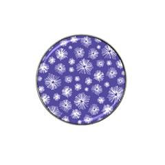 Aztec Lilac Love Lies Flower Blue Hat Clip Ball Marker (4 Pack)