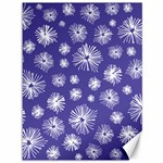 Aztec Lilac Love Lies Flower Blue Canvas 36  x 48   48 x36 Canvas - 1