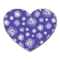 Aztec Lilac Love Lies Flower Blue Heart Mousepads