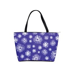 Aztec Lilac Love Lies Flower Blue Shoulder Handbags