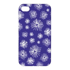 Aztec Lilac Love Lies Flower Blue Apple iPhone 4/4S Hardshell Case