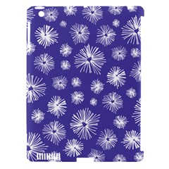 Aztec Lilac Love Lies Flower Blue Apple iPad 3/4 Hardshell Case (Compatible with Smart Cover)
