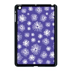 Aztec Lilac Love Lies Flower Blue Apple iPad Mini Case (Black)