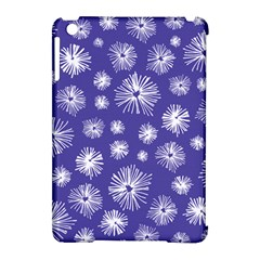 Aztec Lilac Love Lies Flower Blue Apple iPad Mini Hardshell Case (Compatible with Smart Cover)