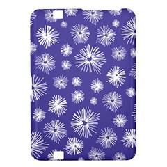 Aztec Lilac Love Lies Flower Blue Kindle Fire HD 8.9