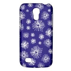 Aztec Lilac Love Lies Flower Blue Galaxy S4 Mini