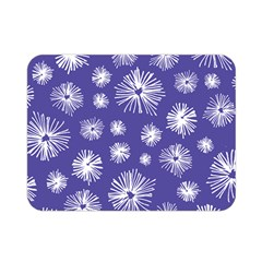 Aztec Lilac Love Lies Flower Blue Double Sided Flano Blanket (Mini)