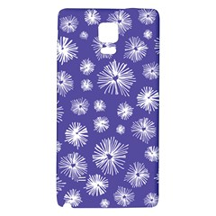 Aztec Lilac Love Lies Flower Blue Galaxy Note 4 Back Case