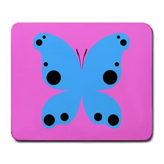 Pink Blue Butterfly Animals Fly Large Mousepads