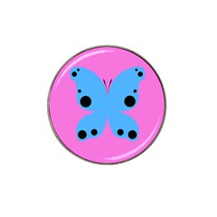 Pink Blue Butterfly Animals Fly Hat Clip Ball Marker (4 pack)