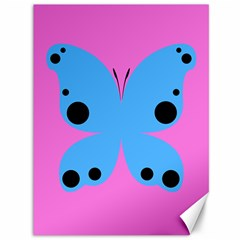Pink Blue Butterfly Animals Fly Canvas 36  x 48