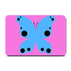 Pink Blue Butterfly Animals Fly Small Doormat