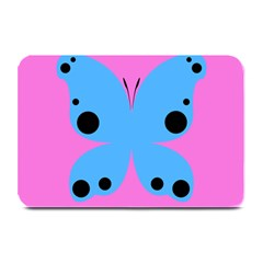 Pink Blue Butterfly Animals Fly Plate Mats